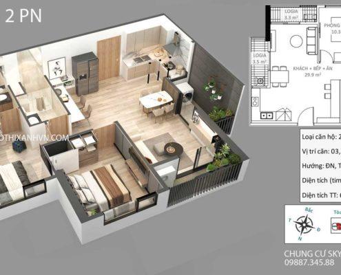 căn-hộ-2-phòng-ngủ-chung -cư-sky-oasis