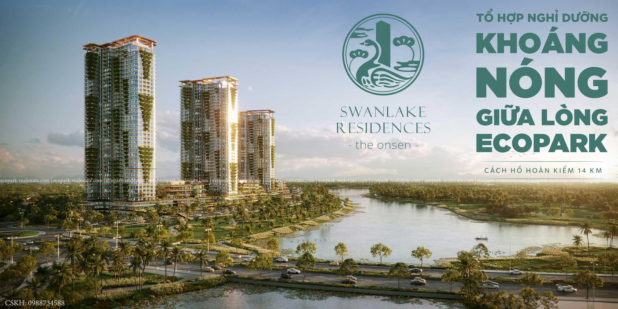 Phối cảnh chung cư Swan Lake Residences The Onsen Ecopark